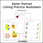 Easter Cutting Practice Worksheets