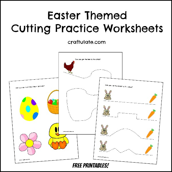 Easter Cutting Practice Worksheets - Craftulate