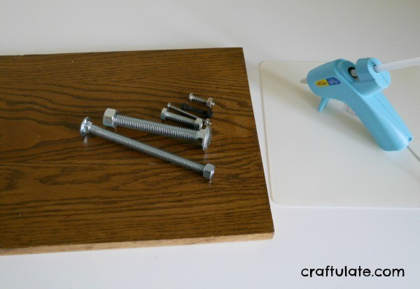 Fine Motor Nuts and Bolts Activity Board