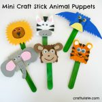 Mini Craft Stick Animal Puppets