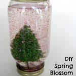 DIY Spring Blossom Snow Globes