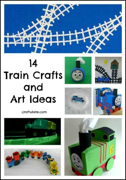 14 Train Crafts and Art Ideas - Craftulate