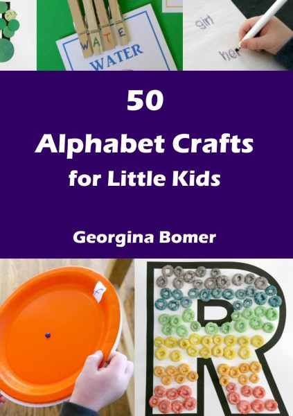50 Alphabet Crafts For Little Kids - available in paperback, ebook or Kindle formats!