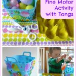 Easter Fine Motor Activity with Tongs