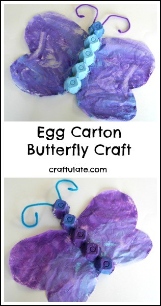 Egg Carton Butterfly Craft - a cute springtime craft for kids made from recyclables