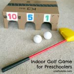 Indoor Golf Game for Preschoolers