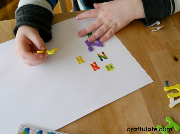 Forming Letters with Letters - a fun letter formation activity for kids