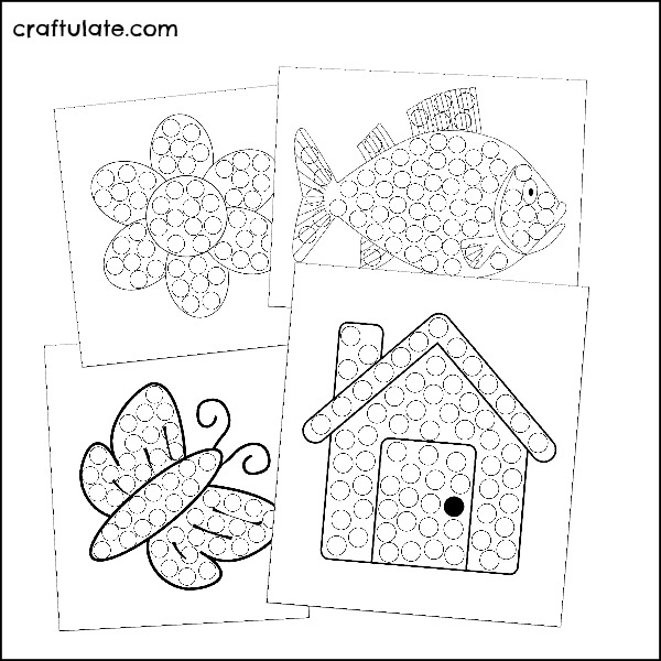Cereal Mosaics with Fruit Rings - with free printable templates