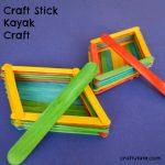Craft Stick Kayak Craft