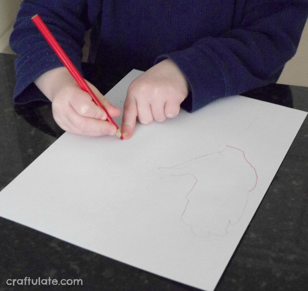 Hand Outline Monsters - a fun drawing prompt for the whole family!