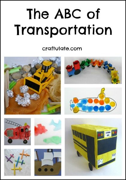 The ABC of Transportation - activities and crafts for kids