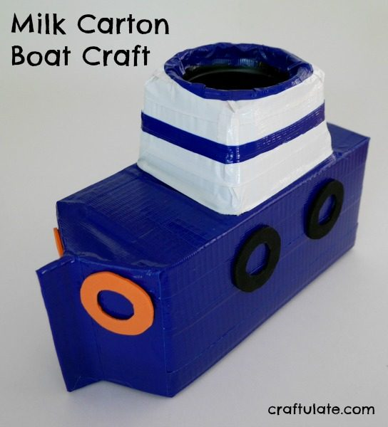 Milk Carton Boat - a fun craft that kids will love!
