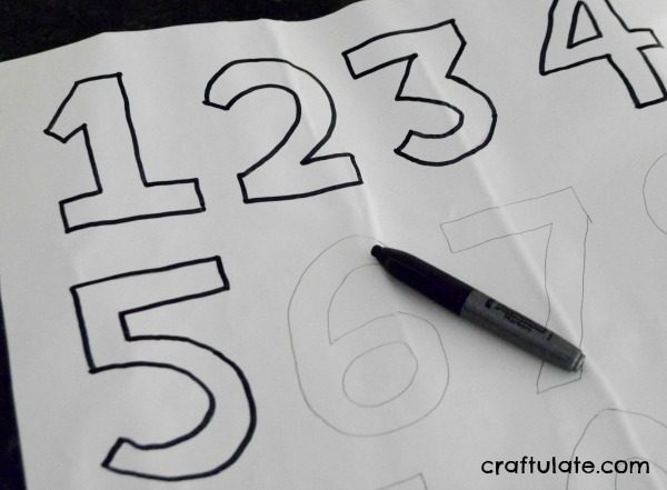 Homemade Number Stickers - combine art and math in one activity!
