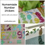 Homemade Number Stickers