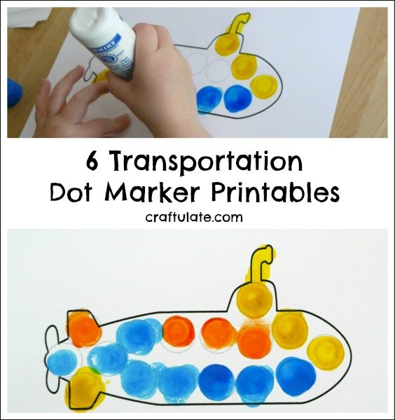 6 Transportation Dot Marker Printables