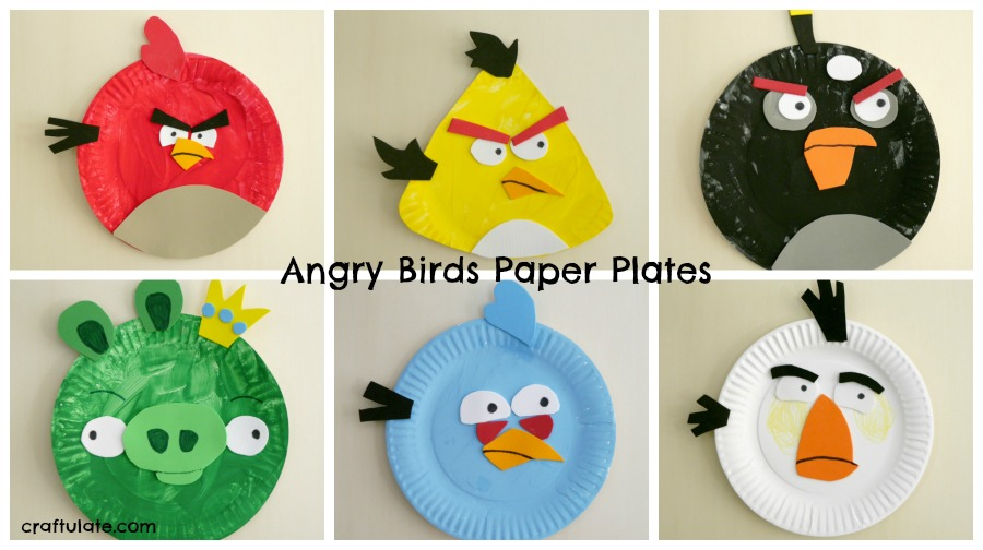 Paper Plate Angry Birds