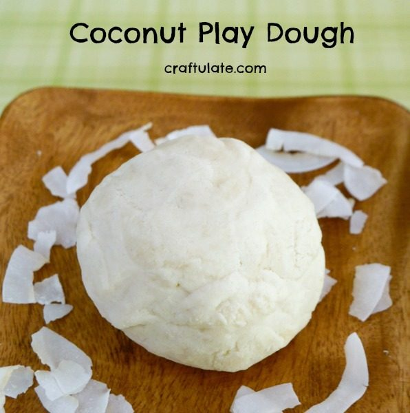 Coconut Play Dough - summer play recipe for kids