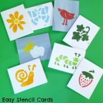 Easy Stencil Cards with Kids