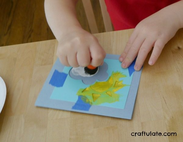 Easy stencil cards with kids craftulate easy stencil cards to make with kids such a fun way to make greeting cards m4hsunfo
