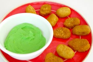 "Ad: Green ""Ooze"" Cheese Dip for Kids"