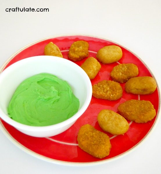"Green ""Ooze"" Cheese Dip for Kids"