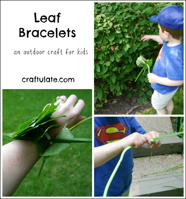 Leaf Bracelets - a really lovely way to celebrate nature with kids!