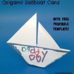 Origami Sailboat Card