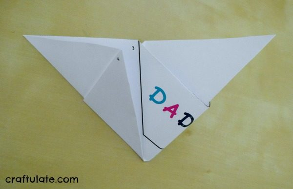 Origami Sailboat Card - kids can decorate it for Father's Day!