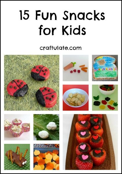 15 Fun Snacks for Kids - sweet, savory, and fun!