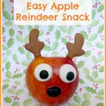 Easy Apple Reindeer Snack