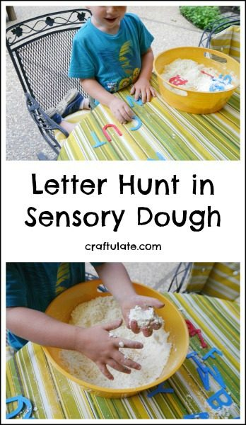 Letter Hunt in Sensory Dough