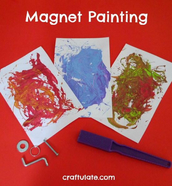 Magnet Painting - a fun process art activity for kids
