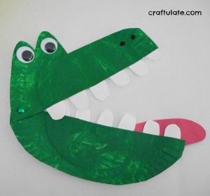 Paper Plate Alligator
