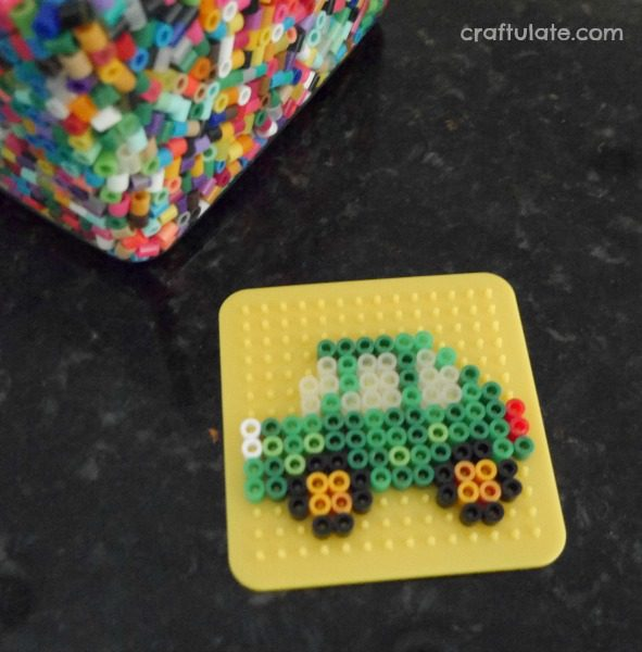 Perler Bead Key Chains - a fun craft for kids to make. Great for gifts!