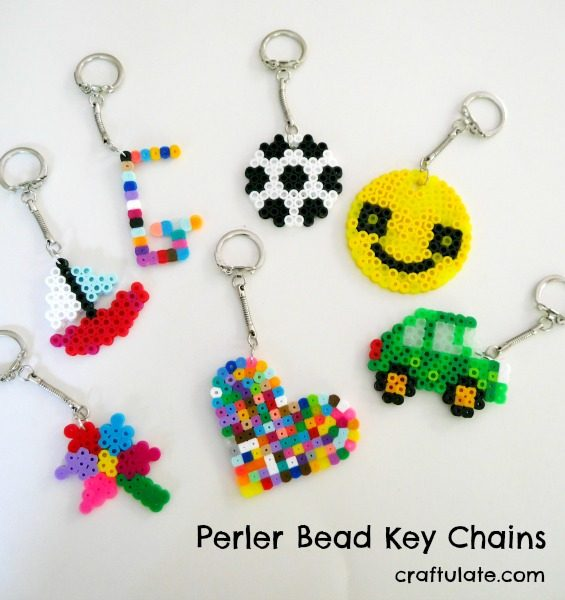 Perler Bead Key Chains - Craftulate