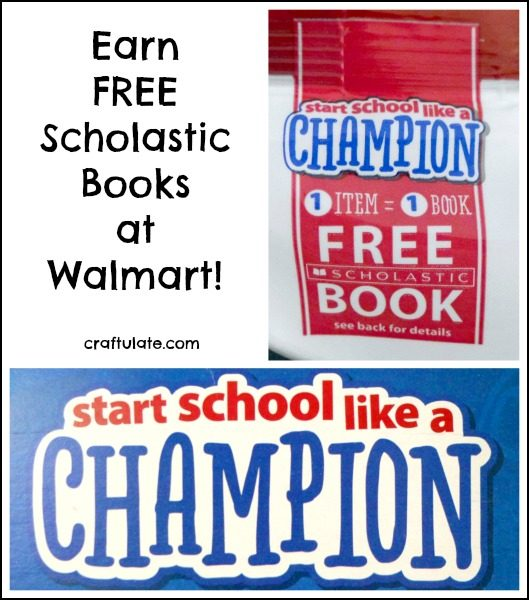 Earn Free Scholastic Books at Walmart! Program runs until 9/30/16