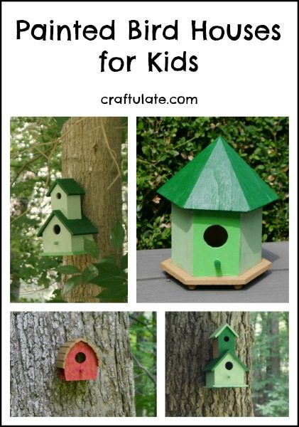 Painted Bird Houses for Kids