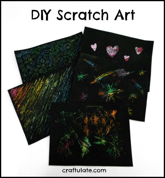 DIY Scratch Art - a fun art technique for kids