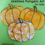 Marbled Pumpkin Art for Kids