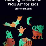Glowing Halloween Wall Art for Kids