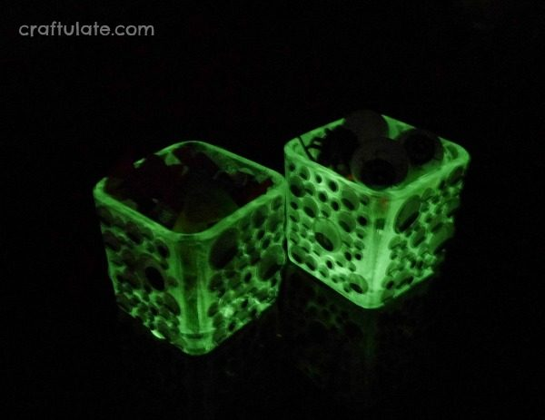 Glow-in-the-Dark Googly Eye Bowls - a spooky Halloween craft for kids to make!