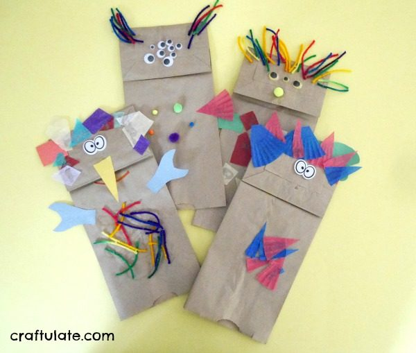 Paper Bag Monsters - a fun and frugal craft for kids to make!