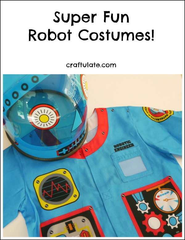 Super Fun Robot Costumes! Perfect for pretend play and/or Halloween!