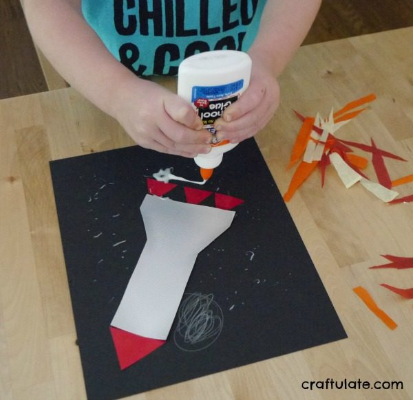 Rocket Art for Kids - kids can whooosh into space with this cool art project!