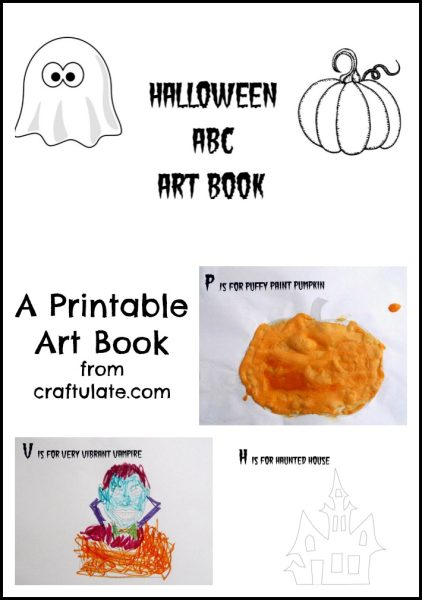 Halloween ABC Art Book - print and download this spooky art book for the kids!