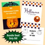 Halloween Crafts, Art Book and Planner Bundle