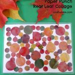 Paper Punch Real Leaf Collage