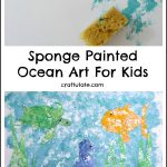 Sponge Painted Ocean Art For Kids