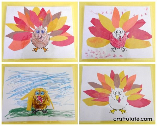 Thanksgiving Placemats For Kids To Make - with free printable