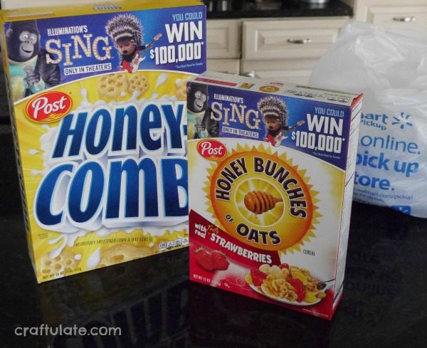 Homemade Honey Ice Cream with Honey Comb cereal